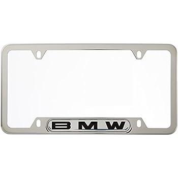 Amazon Com Bmw License Plate Frame W Logo Polished