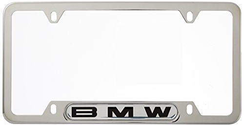 BMW License Plate Frame w/BMW Logo POLISHED stainless steel