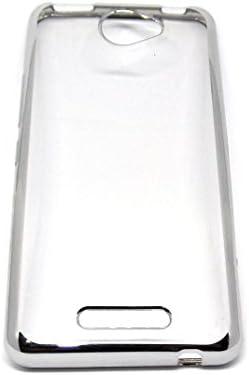 Funda Carcasa Gel Transparente Para BQ AQUARIS U / U Lite , Ultra Fina 0,33mm, Silicona TPU De Alta Resistencia Y Flexibilidad (Borde Plata)