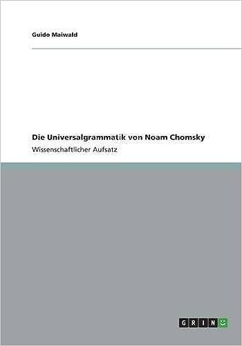 Die Universalgrammatik von Noam Chomsky