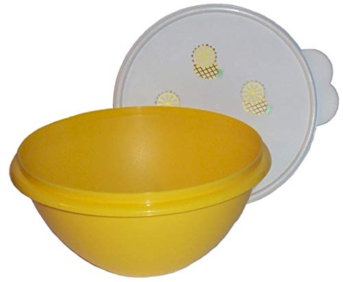 Tupperware Classic Wonderlier Nesting 7 Cup Mixing Bowl Seal Yellow