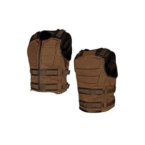 Speed and Strength True Grit Armored Men's MX Motorcycle Vest - Brown X-Large - Icon Stryker Motorcycle