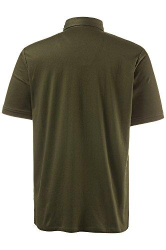 JP 1880 Herren große Größen bis 7XL | Basic Poloshirt | Shirt auf 100 % Baumwolle | Seitenschlitze, Tasche & Oxford-Details | Regular Fit | oliv XL 703657 43-XL