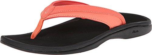 - OLUKAI Women's Ohana Sandal, Coral/Black, 6 M US