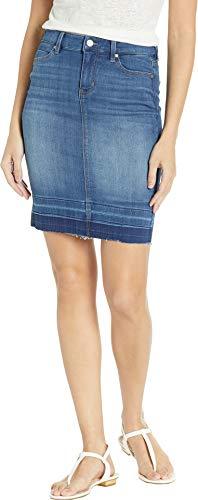 (Liverpool Women's Pencil Skirt Release Hem Lanier Mid Blue 8)