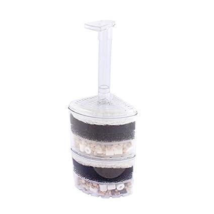 eDealMax pecera de plástico Aire Impulsado esquina filtro de esponja Bump