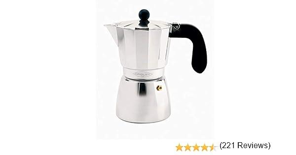 Oroley ALU 3T Cafetera Italiana, Aluminio, 0 cm: Amazon.es: Hogar