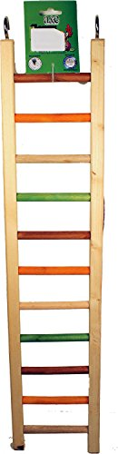 A&E CAGE COMPANY 001452 Happy beaks Wooden Hanging Ladder Multicolored, 25 in by A&E CAGE COMPANY