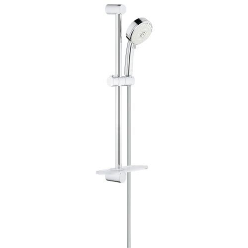 (GROHE 27577002 Tempesta Cosmopolitan 100 4 Spray Shower Rail Set, Starlight Chrome)