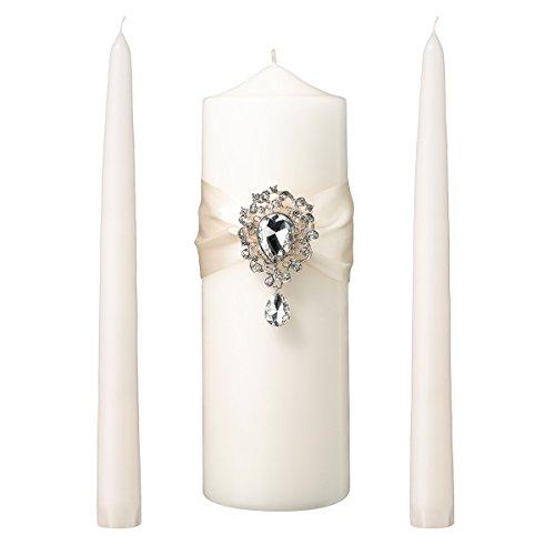 Lillian Rose Pillar Holder Candle - Lillian Rose WS300 I Jeweled Unity Candle Wedding Ceremony Set, 9