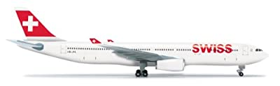 Daron Herpa Swiss A330-300 Diecast Aircraft, 1:500 Scale