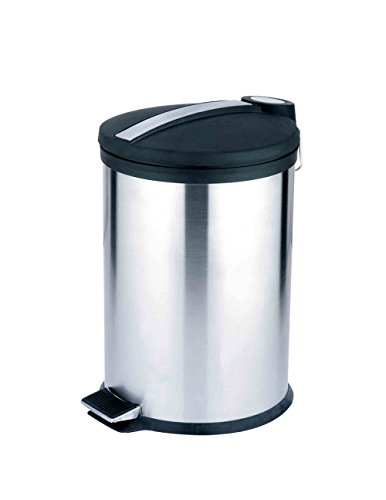 UPC 857198300920, Home Basics WB30092 Waste Basket with Plastic Top, 20 L