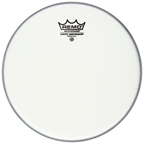 (Remo BA-0110-JP 10-Inch Ambassador Drum Head, Coated Smooth White)