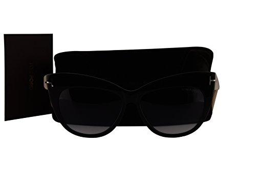 ebba6e59afc9 Tom Ford FT0523 Nika Sunglasses Shiny Black w Grey Gradient Lens 01B TF523 FT523  FT 523 TF 523 - Buy Online in Oman.