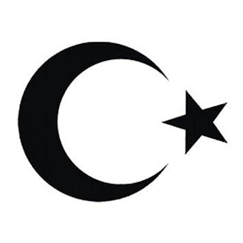 1x Aufkleber Türkei ISLAM Turkey türkiye Flag Aufkleber Sticker Halbmond Stern 3