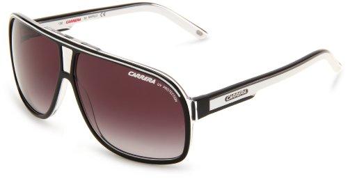 Carrera Grand Prix 2/S Navigator Sunglasses,Black Crystal Frame/Dark Grey Gradient Lens,One - Navigator Best Sunglasses