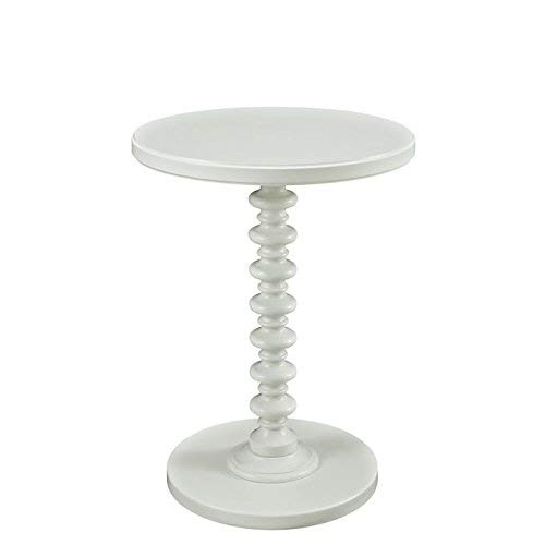 Powell's Furniture 929-269 Powell Round Spindle, White Table,