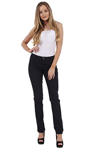 Slim Pants Store Regular Leg Fit Ladies Black Jeans Womens Stretch Ex Famous Denim t0Apqxnw
