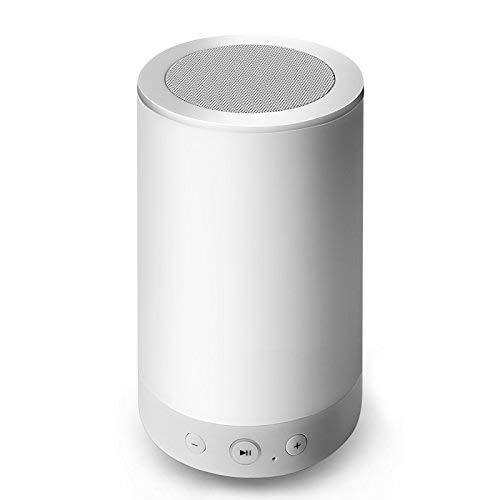 Vander vida lámpara de mesa Altavoz Bluetooth, intensidad regulable color luz de noche con control inteligente, el mejor...