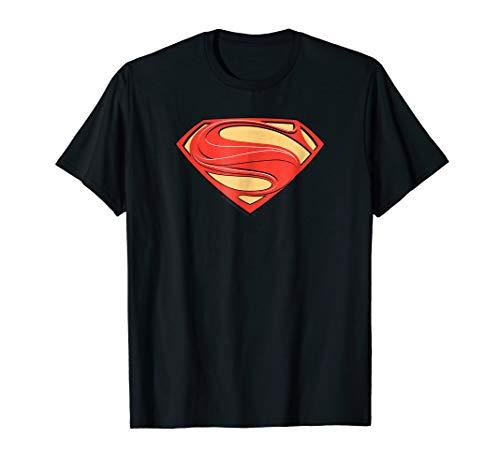 Superman Man of Steel Solid Shield T Shirt (General Zod T Shirt Man Of Steel)