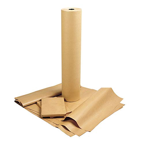 American Made 100% Recycled Brown Kraft Paper Roll,