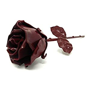 "♥ Eternal Rose Hand-Forged Wrought Iron Red""Ideal gift Valentine's Day, Girlfriend, Mother's Day, Couple, Birthday, Christmas, Wedding Day, Anniversary Gift, Decor, Indoor"" 2"
