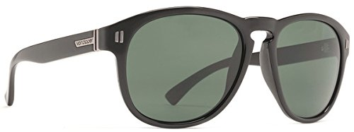VonZipper Thurston Round Sunglasses,Black Gloss,One - Case Von Zipper Sunglass