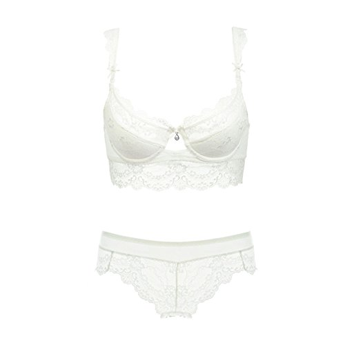 7452ae7243 Vintage Women s Push Up Embroidery Bras Set Lace Lingerie Bra and Panties
