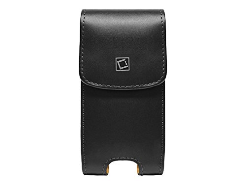 iPhone X (10) NOBLE Vertical European Leather Case Pouch with Magnetic Flap and Spring Swivel Belt Clip (Not Removable) (Fits without case) Cellet Removable Spring Clip
