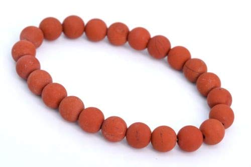 8mm Matte Red Jasper Bracelet Grade Natural Round Gemstone Beads 7'' Crafting Key Chain Bracelet Necklace Jewelry Accessories Pendants