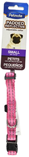 Petmate Padded Reflective Adjustable Collar - Pink - .38 x 8-12 inch