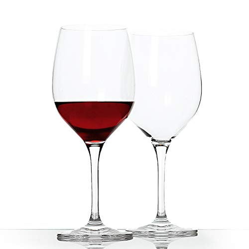 Wine Glasses, Premium Red Wine Glass, Crystal Wine Glass, Bordeaux Glass, 21 OZ Wine Glassware Set of 2,Great for Red and White Wine Lovers (2-pieces)