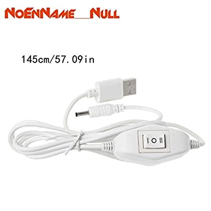 Cable Length: 145cm, Color: White Computer Cables 145CM 5V Power Cord USB to DC 3.5mm x 1.35mm Barrel Jack Charging Cable with Switch
