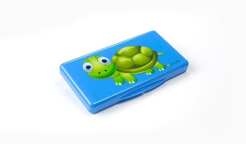 The Wipebox by Uber Mom, Designer Wipe Case for Travel (Blue Turtle)