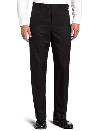 Geoffrey Beene Men's Sorbtek Performance Dress/Golf Flat Front Extender Pant, Black, 32x30