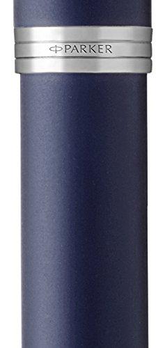PARKER IM Rollerball Pen, Matte Blue with Fine Point Black Ink Refill (1931661)