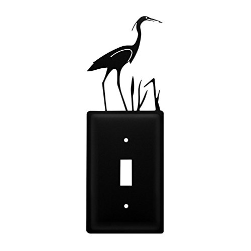 Metal Light Switchplate Cover - Iron Heron Switch Cover - Heavy Duty Metal Light Switch Cover, Electrical Outlet Covers, Lightswitch Covers, Wall Plate Cover