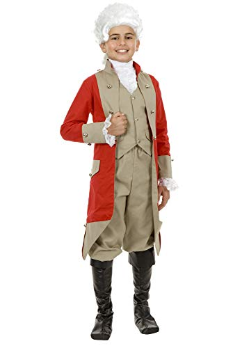 Charades Little Boy's British Red Coat Childrens Costume, as Shown, X-Large -