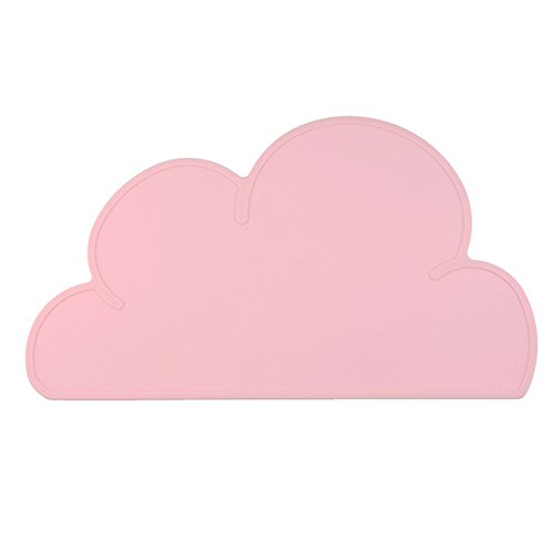 Placemats Dinnerware (DC-BEAUTIFUL Kids Silicone Cloud Placemat Dinnerware Table Mat Washable Portable Place Mat (Pink))