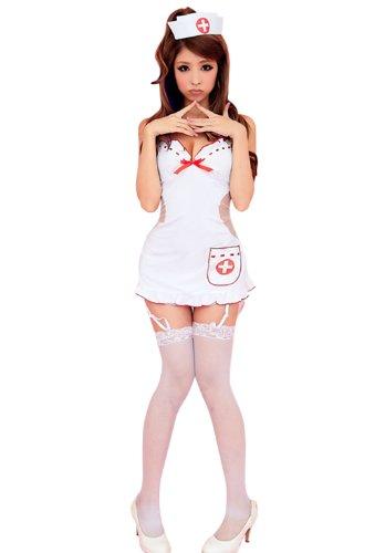 Lingeriecats Nurse 5Pcs Costume White
