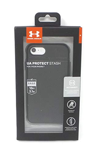 Under Armour Protect Stash Case for Apple iPhone 7 and iPhone 8 Black UAIPH-008-BLK