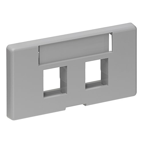Modular Furniture Faceplate - Leviton 2-Port QuickPort Modular Furniture 49910-SG2 Faceplate Grey