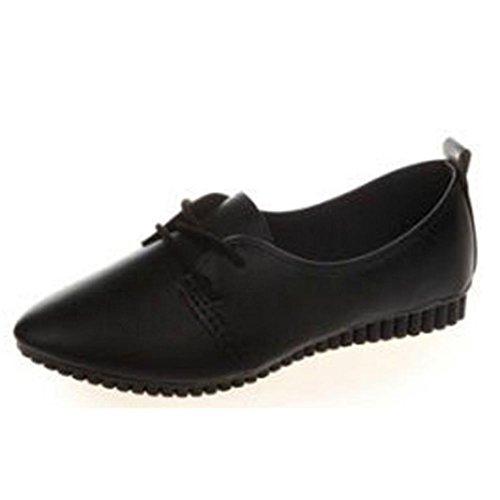 Rcool Frauen flache Schuhe Beleg Auf Komfort Schuhe Flache Schuhe Müßiggänger Schwarz