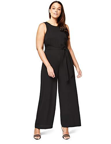 Truth & Fable Women's Wrap Back Wide Leg Jumpsuit, Black EU XS (US 0-2) (Black Wrap Leg)