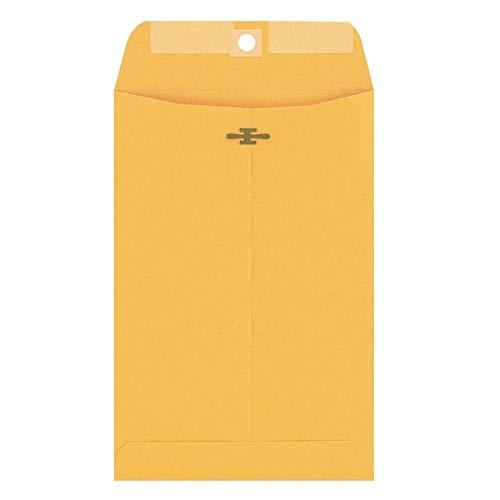 Columbian Clasp Envelopes, 6 x 9 Inches, Brown Kraft, 100 Per Box ()