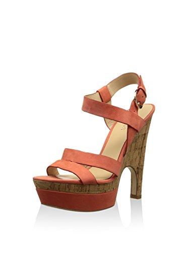 GUESS Fl1joylea04, Sandalias con Plataforma para Mujer Rojo