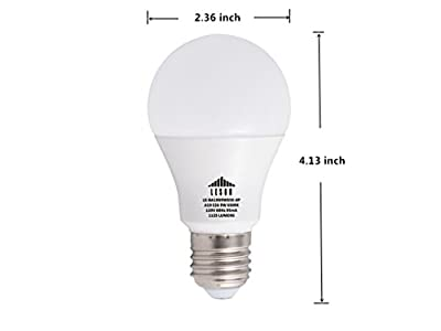 Leson A19 LED Light Bulb Standard E26/E27 Base 9W Energy Saving, Equivalent To 75 Watt Incandescent Bulbs, 1125lm Daylight Cool White 6500k (6 Pack)