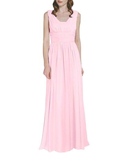Mousseline Longueur V Retour Robes De Demoiselle D'honneur Pour De Longues Ainidress De Mariage Rose