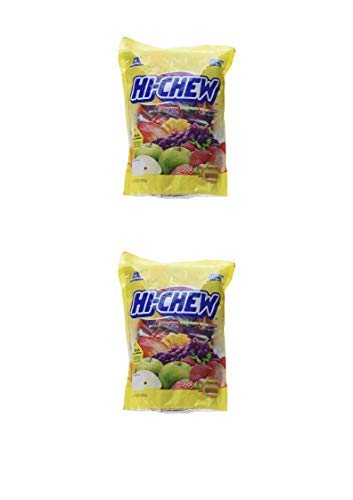 Morinaga Hi -Chew Assorted Flavored 30oz 160+ Individually Wrapped Fruit Chews Mango Grape Strawberry Green Apple