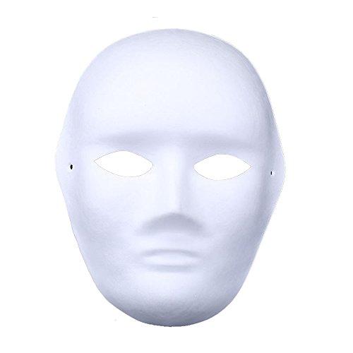 Himine 9 PCS DIY White Paper Mask Blank